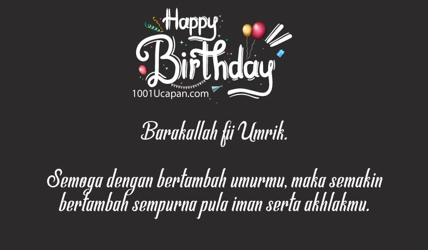 Ucapan Happy Birthday in English