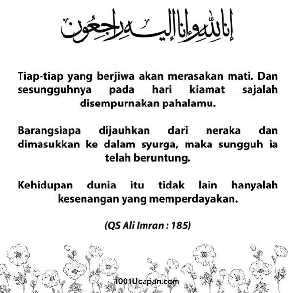 Salam Takziah
