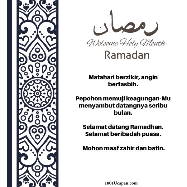 Himpunan Ucapan Ramadhan 2020