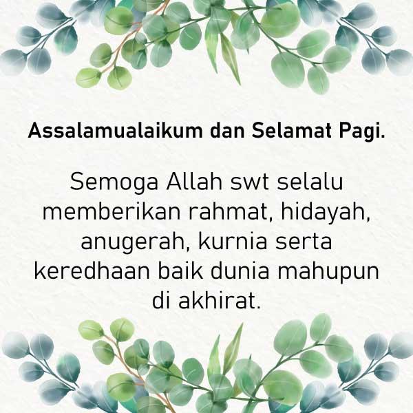 Doaku - Ucapan Selamat Pagi Islami