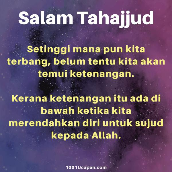 Ucapan Salam Tahajjud