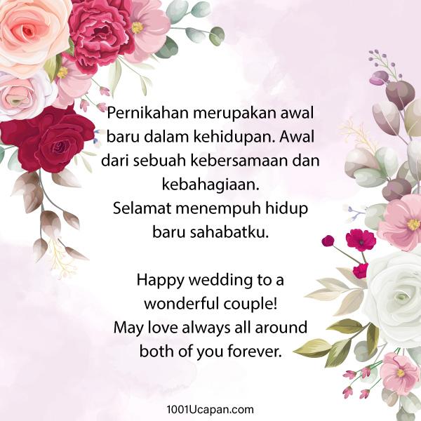 Ucapan Pernikahan Simple, Islam dan Untuk Sahabat