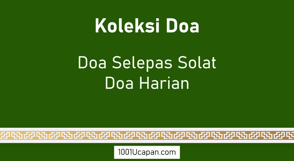 1001 Doa Selepas Solat dan Doa Harian